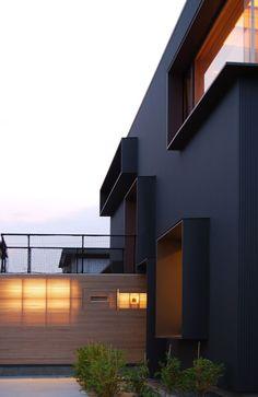 Matte black house