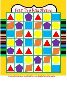 Shapes Four In A Row Game FREE For First 24 Hours