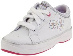 Keds Charlotte Tennis Shoe (Toddler/Little Kid) -                        Price: $  30.00              View Available Sizes & Colors (Prices May Vary)         Buy It Now      The Keds Charlotte decorated with pops of pink embroidery and a vibrant rubber outsole.A lace closure provides a secure fit white padded collar adds comfort. Faux...
