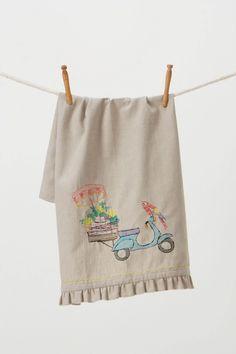 tea towel, scooter towel