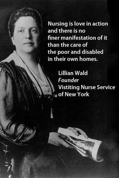 Lillian Wald, nurse and founder of the Visiting Nurse Service of New York. Read more about her at http://www.vnsny.org/community/our-history/lillian-wald/ for National Nurses Week.