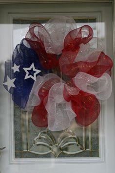 Patriotic wreath DIY