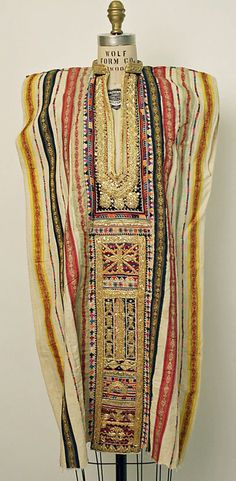 Africa | Wedding Tunic from Tunisia | Cotton, silk, metallic, synthetic |  20th century