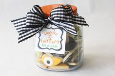 Jack o lantern in a jar -cookies