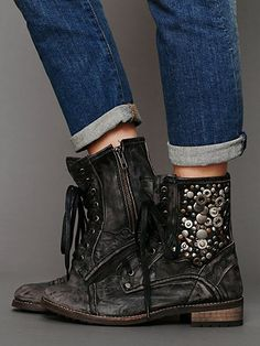 Free People military boot.