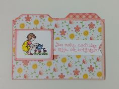 Card made with we r memory keepers envelope punch board