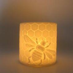 Honeybee candle holder - Bone China