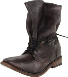 BED:STU Women's Belle Boot.  $209.99 - $220.00            Edgy, original, unexpected, Belle by BED:STU is a boot that offers intrigue in every step. Organic lines made by the oversized shaft are reined in by wrap-around laces. A distressed leather upper lends this striking silhouette broken-in warmth, while the leather sole offer...