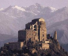 Sacra di San Michele~ It was founded between 983 and 987. Was one of the most famous Benedictine abbeys in northern Italy and is one of the greatest architectonic buildings in Europe among those dating back to the Romanesque period.