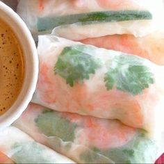 Vietnamese Rice Paper Rolls with Peanut Sauce