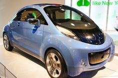 Mitsubishi showed off its bubbly, solar-powered i-MiEV Sport Air at the New York Auto Show.