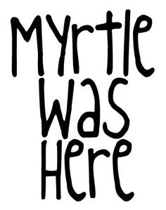 Harry Potter Moaning Mrytle Wall Bathroom Vinyl by RemarkableWalls, $8.00