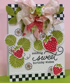 this is a perfect berry sweet card.....I LOVE it!