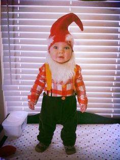 holiday, kid halloween costumes, halloween idea, gnome costume, garden gnomes, funny halloween costumes