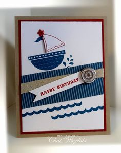 Cute birthday card for men or boys! i STAMP by Nancy Riley