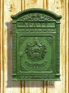 Green:  #Green mailbox.