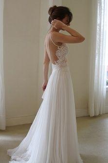 Backless  Beautiful Dress #classy #weddingideas