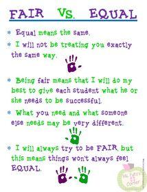 Fair doesn't always mean equal