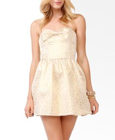 Brocade Bow Tube Dress #partyperfect