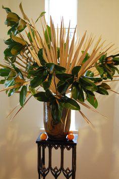 magnolia, dried palmetto