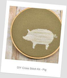 Cross stitch pig kit