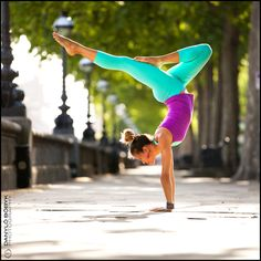 Taking it to the streets #yoga pose