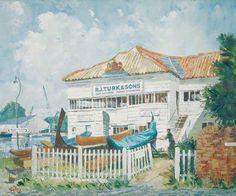 Turk's Boat Yard, Kingston,  - Aubrey Sykes