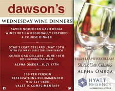 Wednesday's keep getting better! Join us every third Wednesday of the month to enjoy a Wine Dinner where our Chef Jason Poole works one on one with a well known wine distributors to bring to you a custom Four Course Dinner Menu. Call today and make your reservation! Space is limited.
