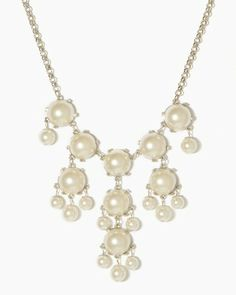 Ivory Pearl Bubble Necklace   Necklaces   charming charlie