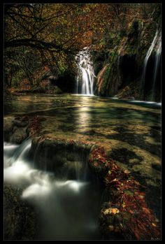 """Tranquility Cove:  the docile waters and shallow """"falls"""" of this quiet, serene place eventually lead to the violent waters of Runover Falls"""