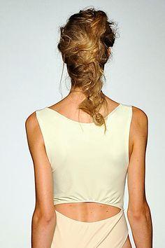 Textured, undone braid