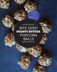 Bite Sized Peanut Butter Popcorn balls from @spoonforkbacon popcorn balls, peanut butter