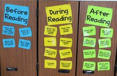 Great questions to ask before, during, and after reading! Free questions and bookmarks!