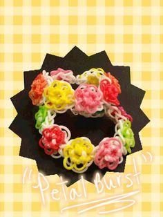 "My New ""Petal Burst "" Rainbow Loom Bracelet by Loves2Loom"