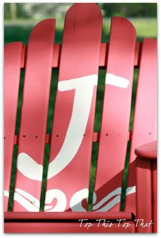 DIY Monogrammed Adirondack chair
