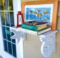 Love these corner brackets! Decorative Brackets with a Coastal Theme by Island Creek Designs