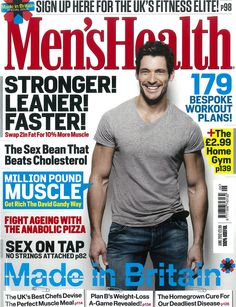 David Gandy covers Men's Health UK June 2012 Issue