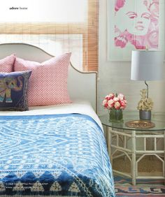 love the art, the headboard, and the ethnic touches. this is girly bedroom perfection.