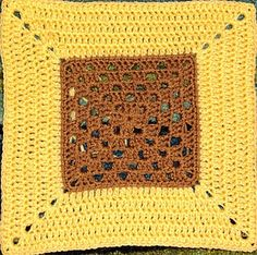 Crochet 12 Inch Square with pattern  Tested. Lovely square when worked in one color.