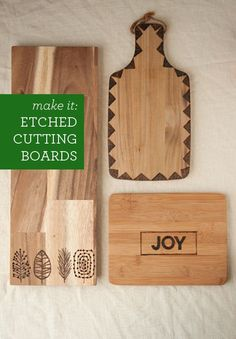 DIY: etched cutting boards