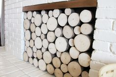 Fireplace Faux Wood Stack Screen : PepperDesignBlog.com