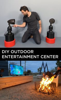 DIY OUTDOOR ENTERTAINMENT CENTER