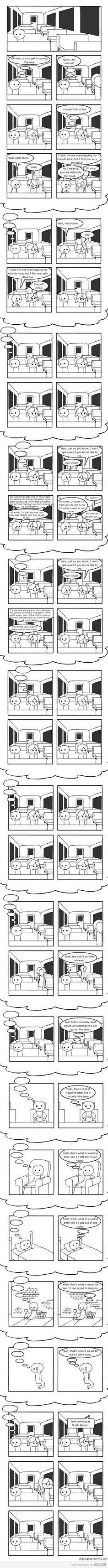 Just talk to her… #comic #comicstrip #cartoon
