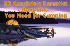 22 Absolutely Essential Diagrams You Need For Camping-step by step diagrams for building a fire, pitching a tent etc... fun :)