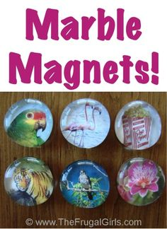 How to Make Marble Magnets {cute easy craft that's so thrifty, too!} ~ from TheFrugalGirls.com #marble #magnets