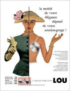 1957 ad for Lou bra