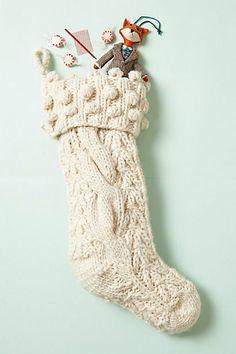 Sweater Stocking sweater stock, anthropologie, holidays, christmas sweaters, christmas stockings, holiday idea, decorations, foxes, holiday decor