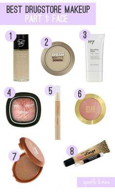 Best Drugstore Foundation, Powder, Primer, Highlighter, Under Eye Concealer, Blush, Bronzer, Blemish Concealer