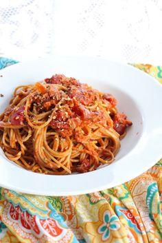 Eat Good 4 Life: Vegetarian pasta bolognese