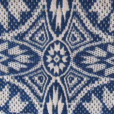 Handwoven Overshot Throw Wool and Cotton by warpedandwonderful